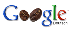 google caffeine, google logo, kaffeebohne