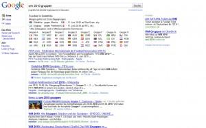 Google im WM Fieber 2010